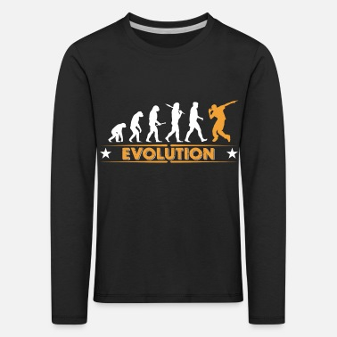 Breakdance Hip hop break dance evolution - orange/blanc - T-shirt manches longues Premium Enfant