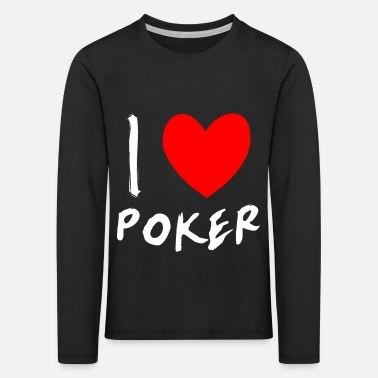 Royal Flush I LOVER POKER - Kinder Premium Langarmshirt