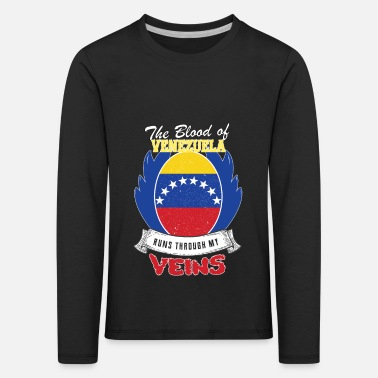 My City Venezuela blood flows through my veins - Kids' Premium Longsleeve Shirt