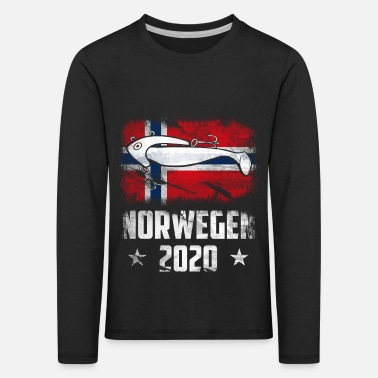 Fishing in Norway 2020 Jighead Angler Norway - Kids' Premium Longsleeve Shirt