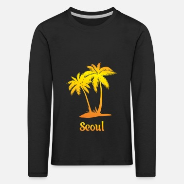 Currency Seoul dream vacation with sun - Kids' Premium Longsleeve Shirt