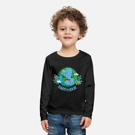 Earth Long Sleeve Shirts - Earth Day - Kids' Premium Longsleeve Shirt black