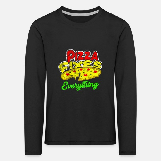 Gift Idea Long Sleeve Shirts - Food food gift idea - Kids' Premium Longsleeve Shirt black