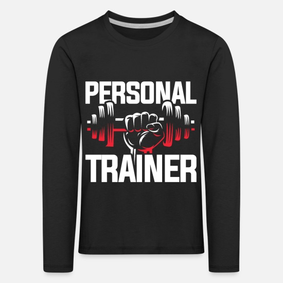Gift Idea Long sleeve shirts - Personal trainer hobby - Kids' Premium Longsleeve Shirt black
