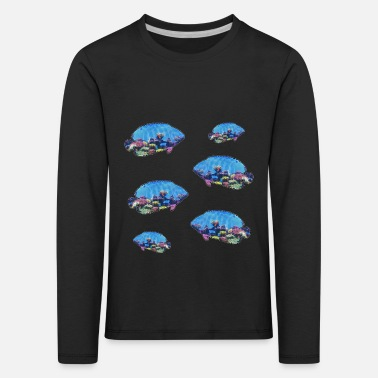 Tropical Fish With Coral Reef - Kids' Premium Longsleeve Shirt