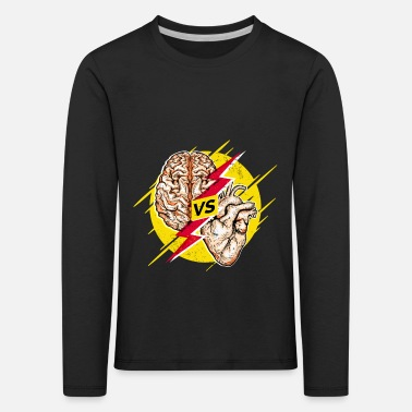 Reason Heart vs. Brain head versus heart mind vs. heart - Kids' Premium Longsleeve Shirt