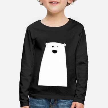 Happy, cute polar bear - Kids' Premium Longsleeve Shirt