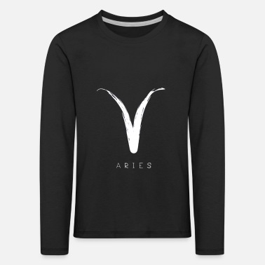 Aries Sign and Text - Kids' Premium Longsleeve Shirt