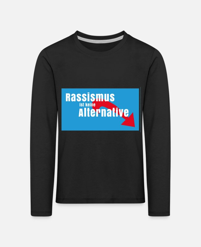 G8 Long-Sleeved Shirts - NO AFD racism no alternative for Germany - Kids' Premium Longsleeve Shirt black