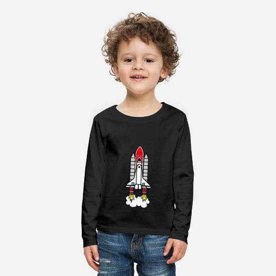 Birthday Long Sleeve Shirts - rocket - Kids' Premium Longsleeve Shirt black