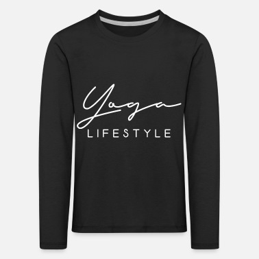 Yoga lifestyle saying meditation scripture - Kids' Premium Longsleeve Shirt