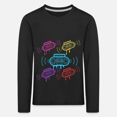 Disco Here's A Great 80's design A Colorful 80's Design - Kids' Premium Longsleeve Shirt