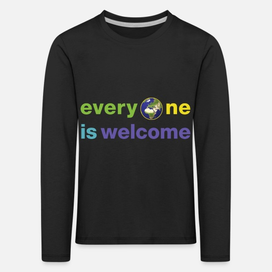 Politics Long sleeve shirts - everyoneiswelcome - Kids' Premium Longsleeve Shirt black