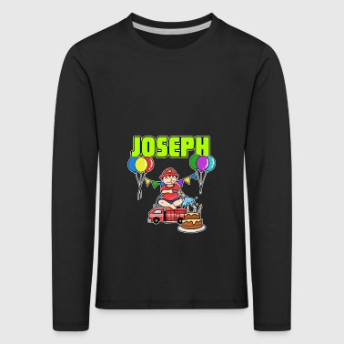 Fire Department Joseph Gift - Kids' Premium Longsleeve Shirt