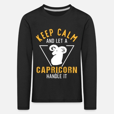 Capricorn zodiac horoscope birth birthday - Kids' Premium Longsleeve Shirt