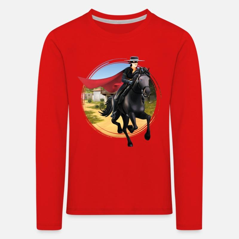 Zorro Les Chroniques sur Cheval Tornado T-Shirt Premium Enfant