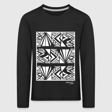 Tribal Pattern White - Kids' Premium Longsleeve Shirt