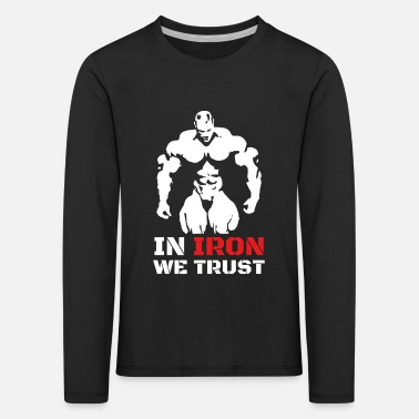 Bodybuilding sports weight training fitness gift - Kids' Premium Longsleeve Shirt