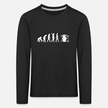 Darwin Drums - Evolution of Man / Darwin - T-shirt manches longues premium Enfant