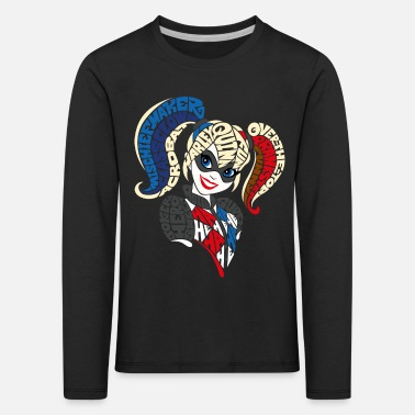 Comics DC Super Hero Girls Harley Quinn Typographie - T-shirt manches longues premium Enfant