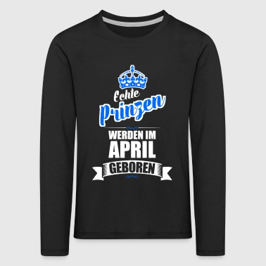 April - Kinder Premium Langarmshirt