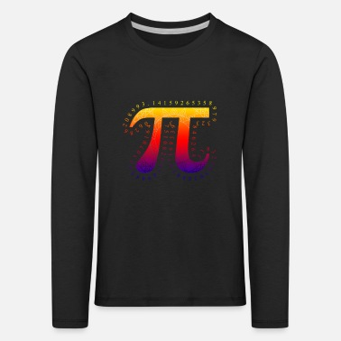 Pi math number teacher math student student - Kids' Premium Longsleeve Shirt
