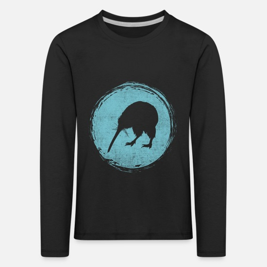 Gift Idea Long sleeve shirts - New Zealand kiwi backpacker - Kids' Premium Longsleeve Shirt black