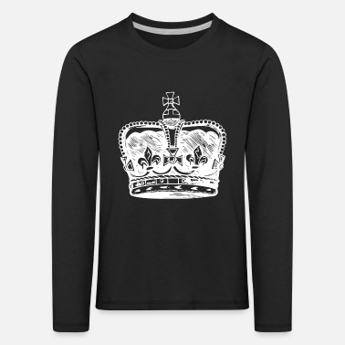 King Queen Crown King Queen Queen King Royal - Lasten premium pitkähihainen paita