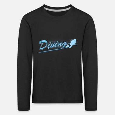 Diving lettering diver hobby gift sports - Kids' Premium Longsleeve Shirt