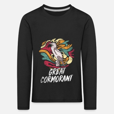 Diving Cormorant gift - Kids' Premium Longsleeve Shirt