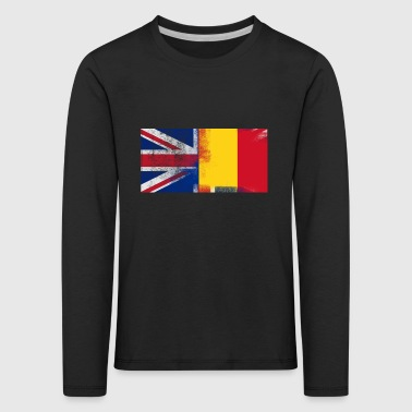 British Romanian Half Romania Half UK Flag - Kids' Premium Longsleeve Shirt