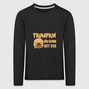 Happy Trumpkin Make Halloween Great Again - Långärmad premium-T-shirt barn