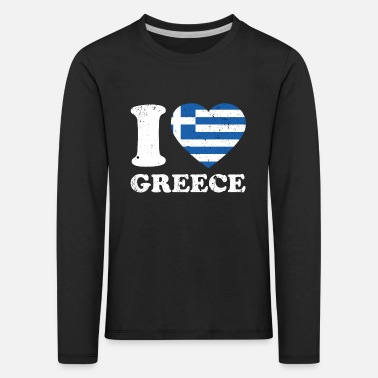 Greece Greece heart gift - Kids' Premium Longsleeve Shirt