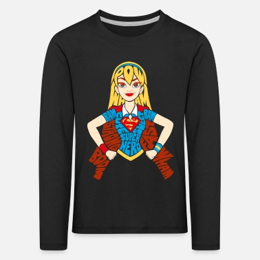 Supergirl DC Super Hero Girls Supergirl Typografie - Kinder Premium Langarmshirt