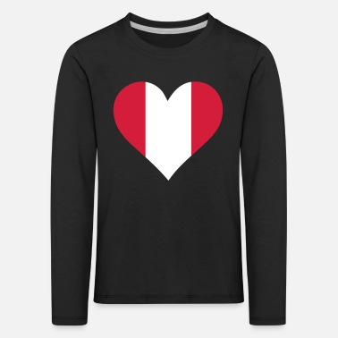 A Heart For Peru - Kids' Premium Longsleeve Shirt