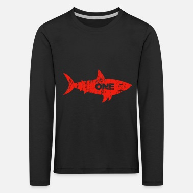 Week Days Shark Shark Week Day 1 shark week diving gift - Kids' Premium Longsleeve Shirt