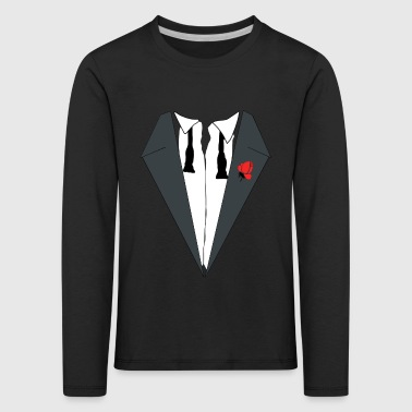 AFTER PARTY DRESS (TUXEDO) - Kinderen Premium shirt met lange mouwen