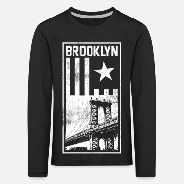 Graphic Art Brooklyn Graphic - Kinderen premium longsleeve
