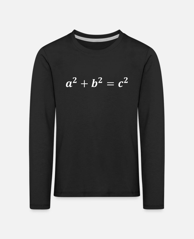 Maths Long-Sleeved Shirts - Pythagorean theorem - Kids' Premium Longsleeve Shirt black