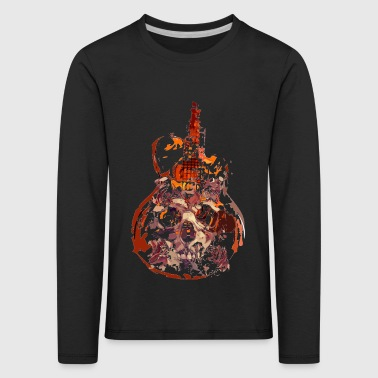 Skull on guitar - Kids' Premium Longsleeve Shirt