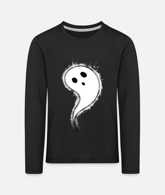 Haunting Long sleeve shirts - Ghost Haunted brightly - Kids' Premium Longsleeve Shirt black