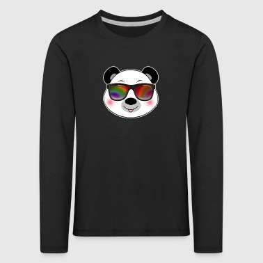 Cool panda with sunglasses summer cartoon - Kids' Premium Longsleeve Shirt