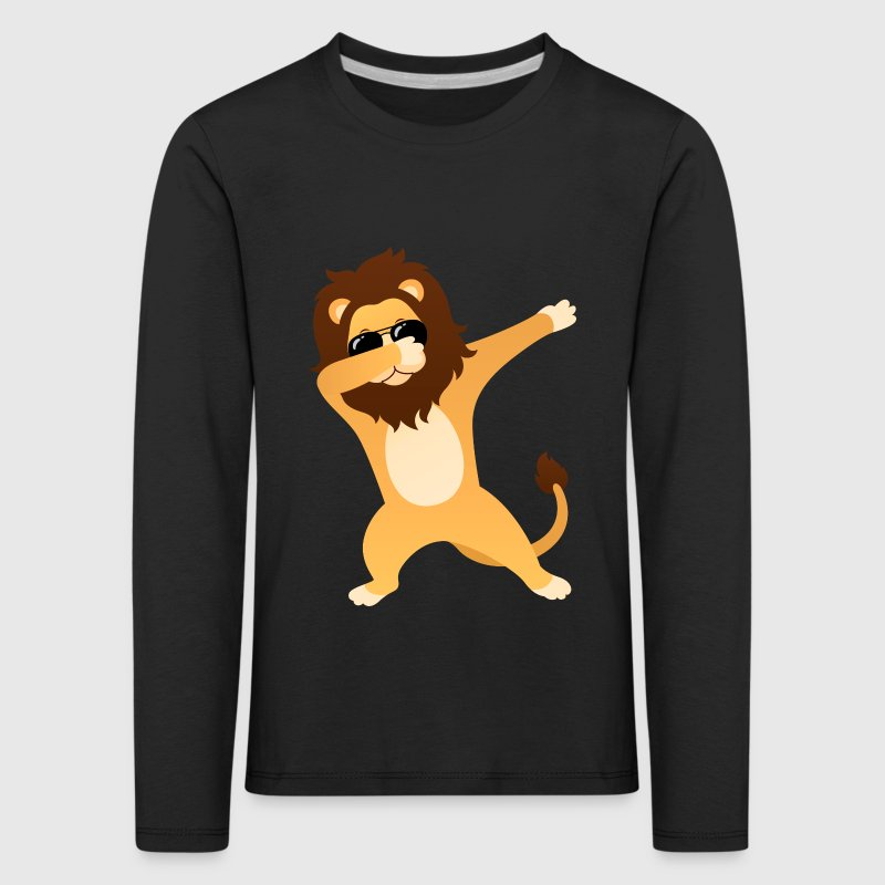 Dabbing Lion With Sunglasses - Cool Gift - Kids' Premium Longsleeve Shirt