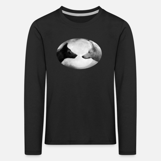 Wolf Long Sleeve Shirts - Wolf - Kids' Premium Longsleeve Shirt black