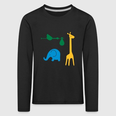 Storch, elefant, giraff - Best Friends - Premium langermet T-skjorte for barn
