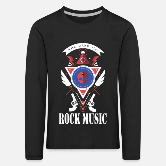 Music Long sleeve shirts - the dark man - Kids' Premium Longsleeve Shirt black