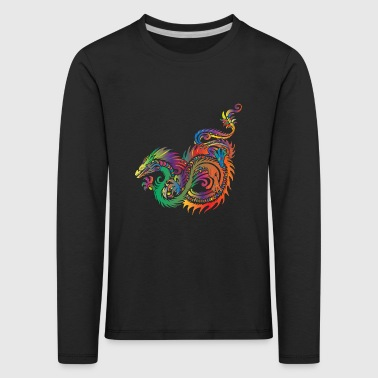 Tribal Dragon Dragon - tribal - Kids' Premium Longsleeve Shirt