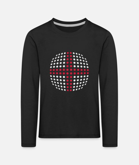 Cute Long-Sleeved Shirts - England flag (Dotted) - Kids' Premium Longsleeve Shirt black
