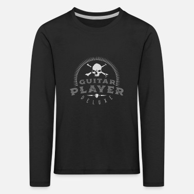 Heavy Guitar Player 06 2018 B-0 - Kinder Premium Langarmshirt