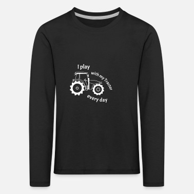 Young Tractor Gift Tracker Toy Young Farmer - Kids' Premium Longsleeve Shirt
